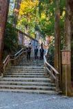 艾斯津沽Naiku (艾斯盛大寺庙-内在寺庙)在艾斯市,三重县 免版税图库摄影