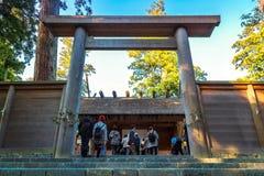 艾斯津沽Naiku (艾斯盛大寺庙-内在寺庙)在艾斯市,三重县 库存图片