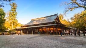 艾斯津沽NaikuIse盛大寺庙-内在寺庙在艾斯市,三重县 库存照片