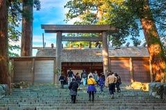 艾斯津沽NaikuIse盛大寺庙-内在寺庙在艾斯市,三重县 免版税库存照片