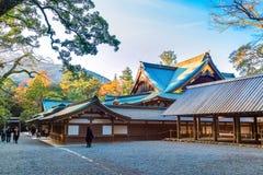 艾斯津沽NaikuIse盛大寺庙-内在寺庙在艾斯市,三重县 免版税库存图片