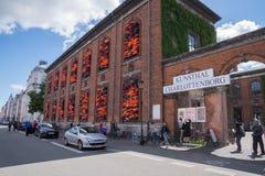 艾未未书刊上的图片,哥本哈根,丹麦 免版税库存照片