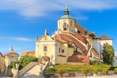 艾森斯塔特山教会(Kalvarienberg的海顿教会),城镇 库存照片
