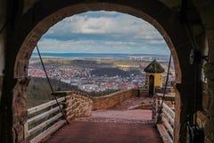 艾森纳赫和乡下从瓦尔特堡城堡 免版税库存照片