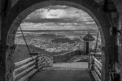艾森纳赫和乡下从瓦尔特堡城堡 图库摄影