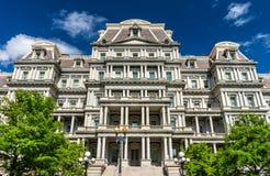艾森豪威尔行政办公室大厦,美国政府大厦在华盛顿, D C 库存图片