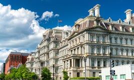 艾森豪威尔行政办公室大厦,美国政府大厦在华盛顿, D C 免版税库存图片