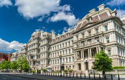 艾森豪威尔行政办公室大厦,美国政府大厦在华盛顿, D C 免版税库存照片