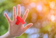 艾滋病意识活动 库存照片