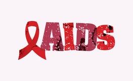 艾滋病概念被盖印的词艺术例证 免版税库存照片