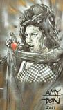 艾米Winehouse (街道画) 免版税库存照片