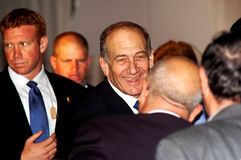 艾胡德・奥尔默特-以色列的第12位总理 免版税图库摄影