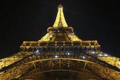 艾菲尔铁塔光展示 库存图片