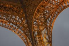 艾菲尔铁塔光表现展示 库存照片