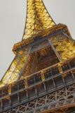 艾菲尔铁塔光表现展示 图库摄影
