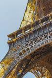 艾菲尔铁塔光表现展示 免版税库存照片