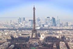 艾菲尔铁塔和巴黎都市风景 免版税库存图片