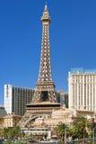 艾菲尔铁塔在拉斯维加斯在一个夏日 免版税库存图片