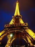 艾菲尔铁塔在晚上 图库摄影