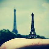 艾菲尔铁塔在巴黎,法国 库存图片