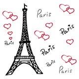 艾菲尔铁塔在巴黎 免版税库存照片