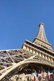 艾菲尔铁塔复制品在拉斯维加斯 库存图片