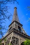 艾菲尔铁塔春天 库存照片