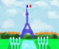 艾菲尔铁塔法国摘要绘画 库存照片