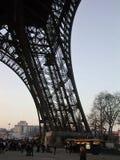 巴黎-艾菲尔铁塔的柱子 库存照片