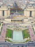 从艾菲尔铁塔的看法在巴黎 库存照片