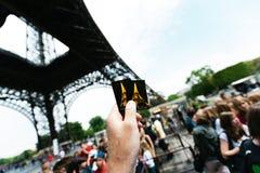 艾菲尔铁塔票 免版税库存图片