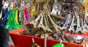 艾菲尔铁塔钥匙圈 库存图片