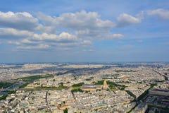 从艾菲尔铁塔,法国的巴黎全景 免版税库存照片