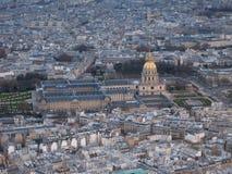 从艾菲尔铁塔,巴黎的顶端看法 图库摄影