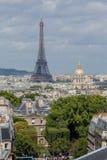 艾菲尔铁塔Invalides巴黎法国 免版税图库摄影