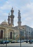 艾资哈尔清真寺尖塔  免版税库存照片