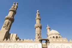 艾资哈尔清真寺,开罗,埃及 免版税库存图片