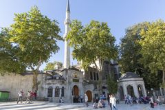 艾郁普苏丹清真寺伊斯坦布尔土耳其 免版税库存图片