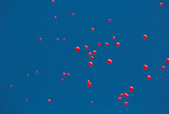 艾滋病纪念品气球 库存照片