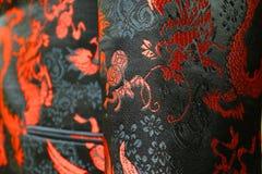 细节中国人服装 库存照片