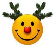 节假日图标面带笑容 库存照片