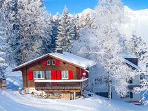 节假日房子冬天 库存照片