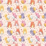 节假日无缝模式的兔子 免版税图库摄影