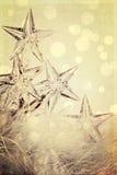 节假日星形光有欢乐背景 免版税库存图片