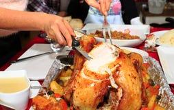 节假日烤了被充塞的火鸡 图库摄影