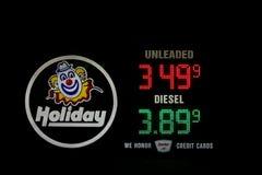 节假日燃料石油价格在犹他 库存照片