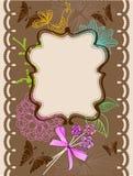 节假日的花卉看板卡 免版税库存照片