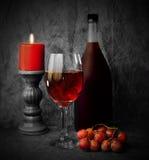 节假日红葡萄酒 库存照片