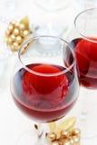 节假日红葡萄酒 图库摄影