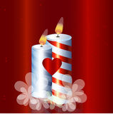 节假日蜡烛 免版税库存照片